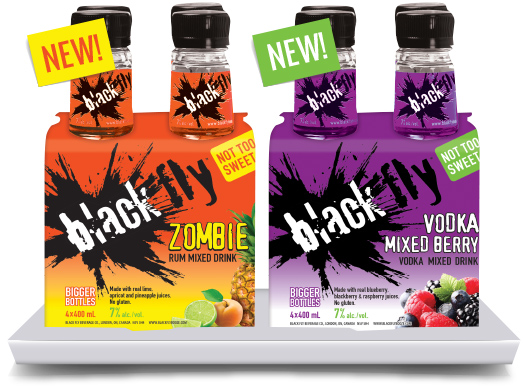 Zombie Rum Mixed Drink / Vodka Mixed Berry