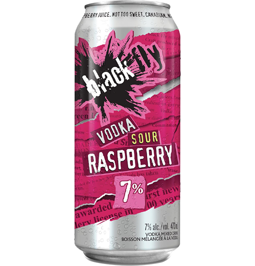 Black Fly - Vodka <span style='color:#EBFA4B;'>Sour</span> Raspberry