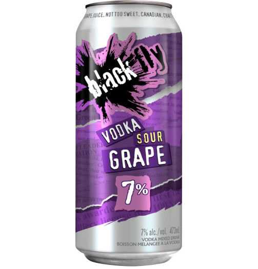 Black Fly - Vodka Sour Grape