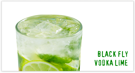 BLACK FLY VODKA LIME