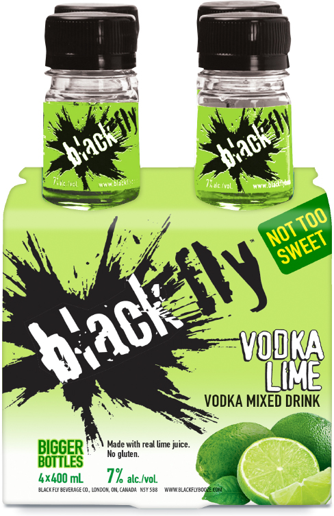 Black Fly - Vodka Lime